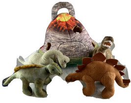 TOYS R US FAO Plush Dinosaur Volcano House with 4 Dinosaurs - $35.52