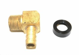 """Big A Service Line 3-73166 3/8"""" x 3/8"""" Metal Barbed Male Tube Elbow - $12.75"""