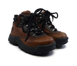 Timberland Hiking Boots Baby Toddler Size 6M Brown Leather Lace Up Ankle... - £22.02 GBP