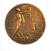 Memory Members Meeting Freedom Association in Utrecht Medal 1928 March 3... - $69.29