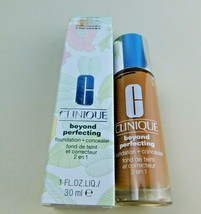 Clinique Beyond Perfecting Foundation + Concealer 21 Cream Caramel M-G New - $18.76