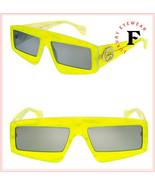 GUCCI 0358 Fluorescent Lime Green Pearl Geometric Mask Sunglasses GG0358... - $289.58