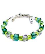 Single Loop Memory Wire Bracelet With Lime Gree... - $28.00
