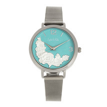 Sophie and Freda Lexington Bracelet Watch - Silver/Turquoise - $322.44 CAD