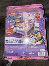 Paw Patrol 4-Piece Bedding Sheet Set Toddler Flat Fitted Pillow Cases Be... - $46.74