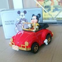 Mickey Mouse Tin Toy Car VOLKS WAGEN Screw type Retro Disney Masudaya Us... - $119.99