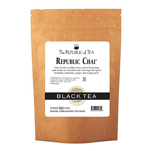 The Republic of Tea Republic Chai Black Tea, 50 Tea Bag Refill