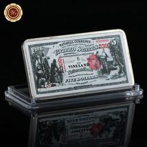 WR US 1875 $5 Vineland National Currency Color Printed Ingot Silver Bar ... - $4.88