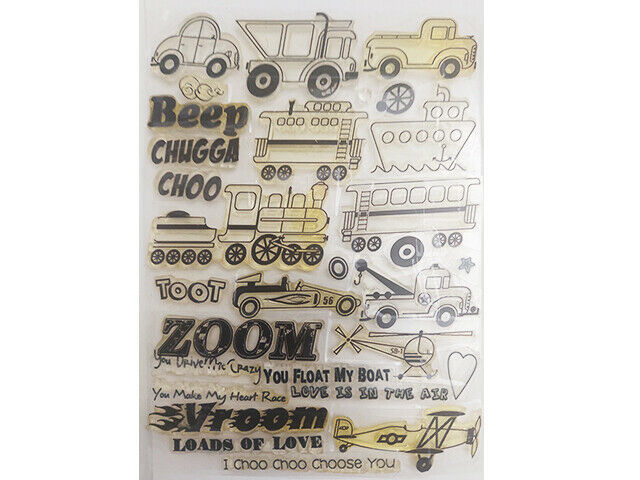 Automobile Stamp Set with Sentiments
