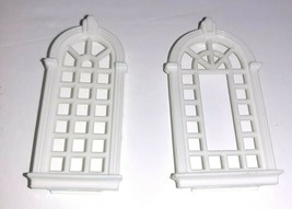 Precious Places Magic Key Mansion REPLACEMENT Arched Windows x2 - $14.85