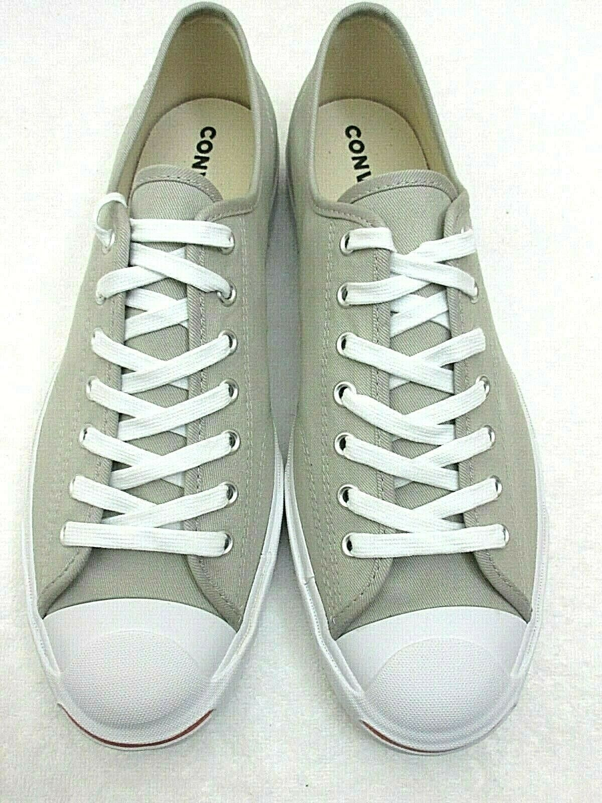 Converse Mens Jack Purcell OX Canvas Birch Bark White Habanero Red Shoes 10.5 image 4
