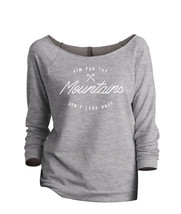 Thread Tank Aim For The Mountains Don't Look Back Women's Slouchy 3/4 Sl... - $24.99+