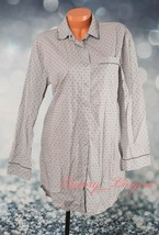 VS Victoria's Secret Long Sleeve Button-down Pajama Sleepshirt S Small G... - $21.99