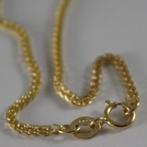 SOLID 18K YELLOW GOLD CHAIN NECKLACE 1.1 MM EAR LINK, 19.69 INCHES MADE IN ITALY image 2