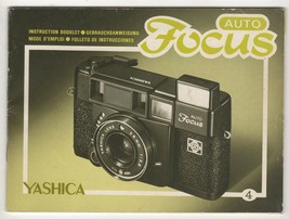 YASHICA Auto Focus 4 Instruction Booklet Vintage Camera Literature - $14.49