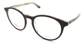 Christian Dior Rx Eyeglasses Frames Montaigne 15 MVG 50-19-140 Burgundy Crystal - $161.70