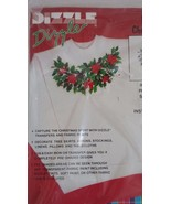 """Dizzle Pre Shaded Christmas Transfer Stars and Holly Wreath Iron On 14"""" ... - $7.69"""