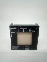 Maybelline Fit Me! Pressed Powder 125 Nude Beige Matches Natural Tone Se... - $8.28