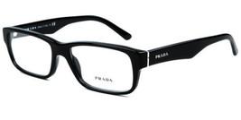 Authentic Prada Eyeglasses VPR16M 1AB-1O1 Black Rx-ABLE 55MM - $151.46
