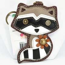 Chala Handbags Faux Leather Whimsical Raccoon Charm Key Chain Keychain image 1