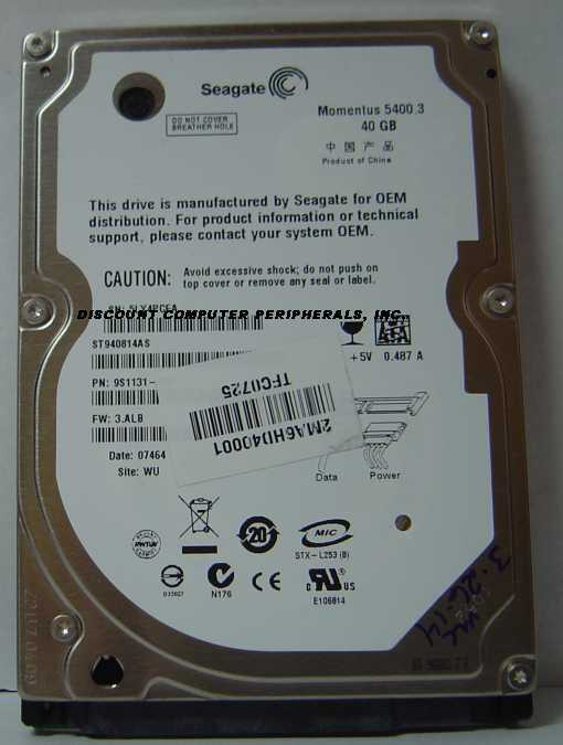 Seagate st940814as