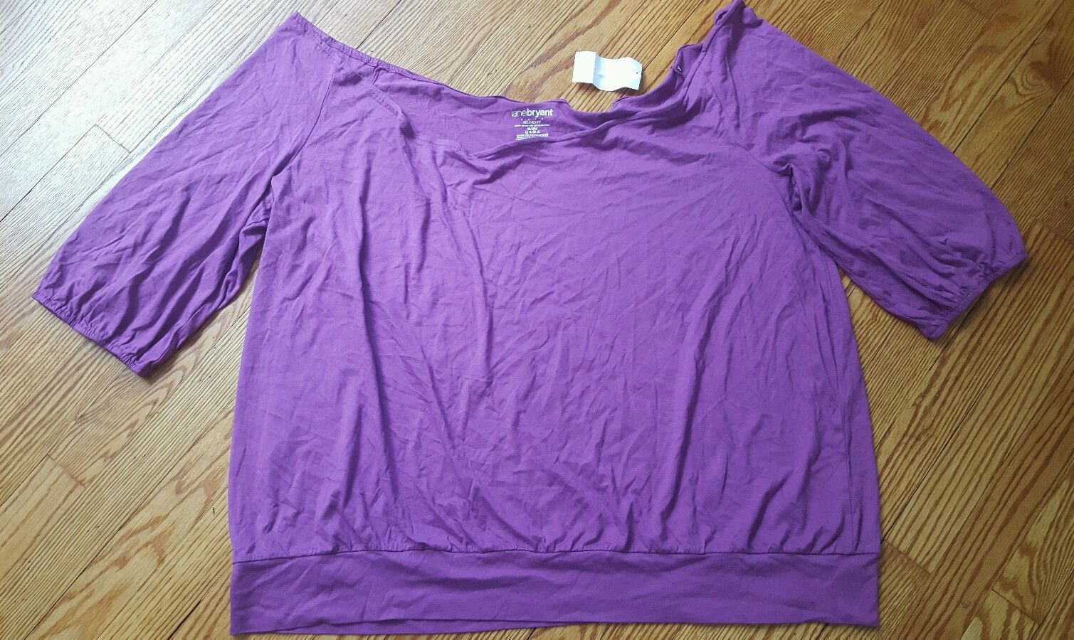 NWT LANE BRYANT Womens Plus Size 26/28W Pink Cotton Blend Relaxed Fit NEW
