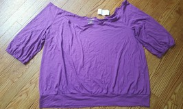 NWT LANE BRYANT Womens Plus Size 26/28W Pink Cotton Blend Relaxed Fit NEW - $8.90