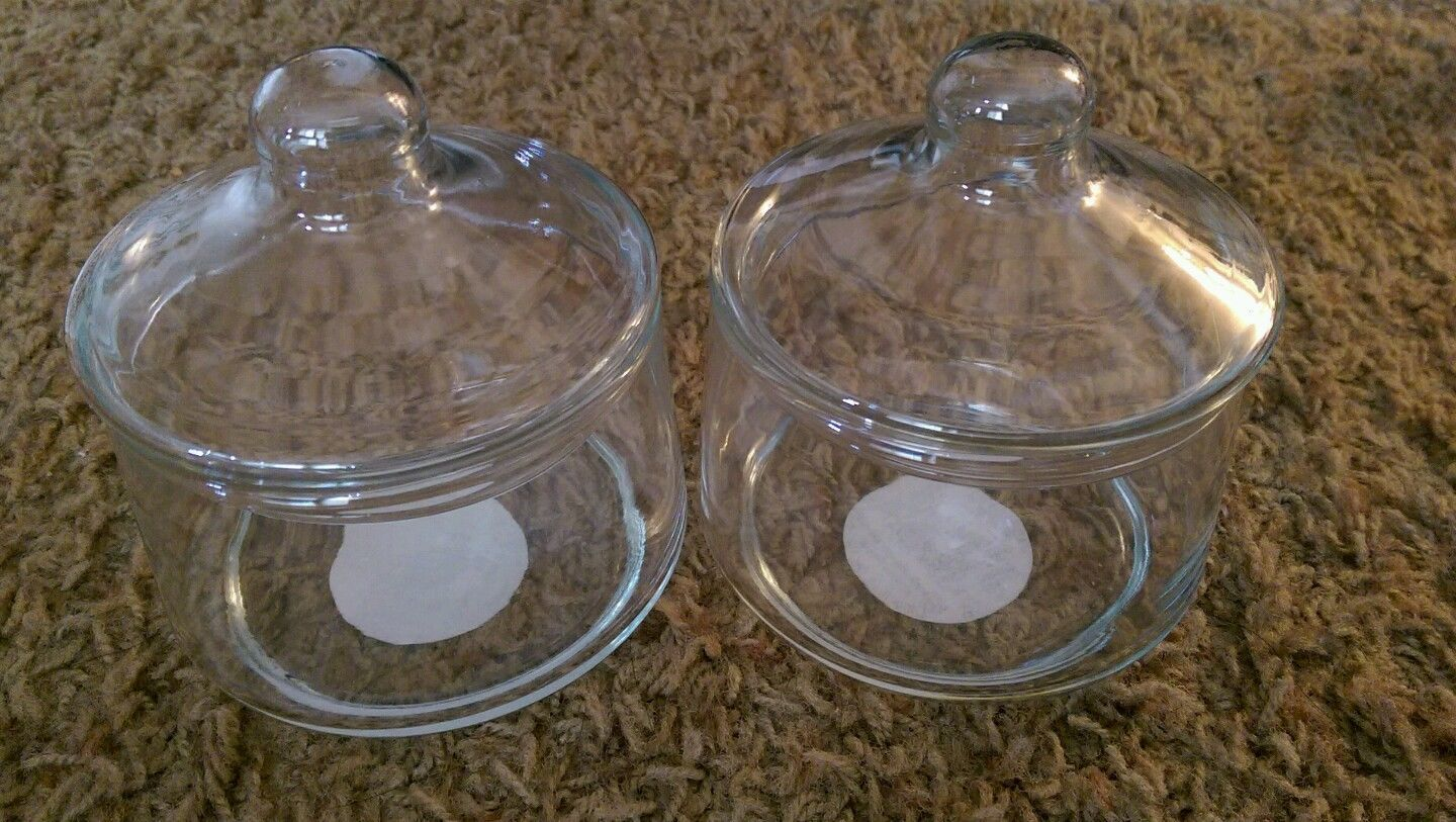 2 Vintage USA Indiana Glass Company #5237 Crystal Snack Jars
