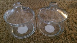 2 Vintage USA Indiana Glass Company #5237 Crystal Snack Jars - $19.87