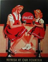 Refresh at our Fountain Coca-Cola, Coke, Soda Fountain Soft Drink Metal ... - $20.95