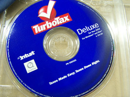 Turbotax tax year 2004  Deluxe Intuit  v04.00  cd 358325 - $14.84