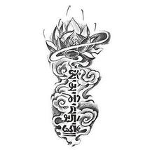 Creative Lotus Totem Tattoo Stickers Fashion Fake Body Tattoos Tattoo Design