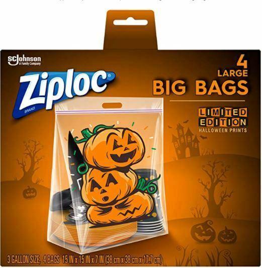 Ziploc Storage Bags, Double Zipper Seal & Expandable Bottom, Large, 4...
