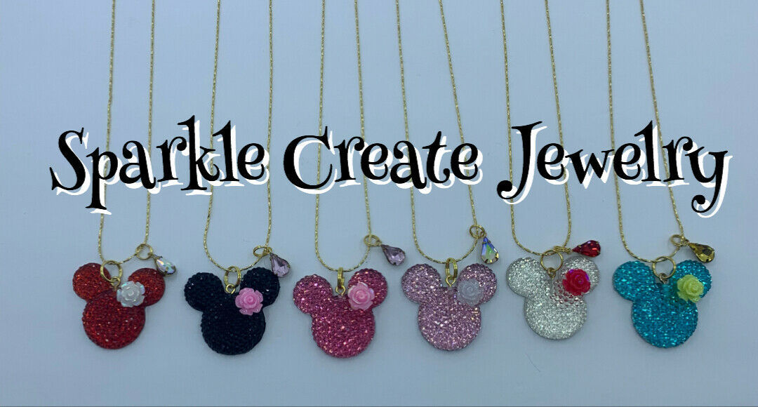 Minnie Mouse Flower Charm Necklace