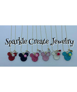 Minnie Mouse Flower Charm Necklace - $12.99