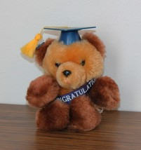 "NWT Vintage 1984 80s Applause 5"" Graduation Brown Grad Teddy Bear NEW Tags - $24.74"