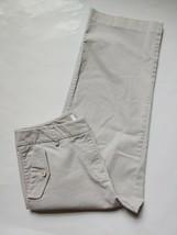Talbots Stretch Chino Cropped Capri Pants Womens Size 4 Khaki White Flap... - $23.76