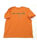 NWT Carhartt Orange Graphic Shirt w/ Camouflage Lettering Men's Size X-L... - $22.24