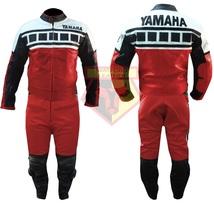 YAMAHA 6728 RED MOTORBIKE MOTORCYCLE BIKERS COWHIDE LEATHER ARMOURED 2 P... - $339.99