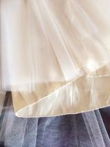 Women Ivory Tea Length Tulle Skirt Ivory Wedding Bridesmaid Midi Tulle Skirts  image 4