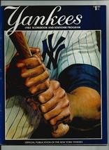 YANKEES 1982 SCOREBOOK AND SOUVENIR PROGRAM  vs Texas Rangers  EXMT  - $13.10