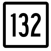 Connecticut State Highway 132 Sticker Decal R5148 Highway Route Sign - $1.45+