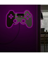 Gamepad Controler Wall Mirror With LED Backlight Joystick Games Decorative - $75.02