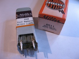 Miller 6511 Coil Tunable Core Transformer Bendix 2090907-3 - NOS Qty 1 - $11.39