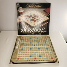 SCRABBLE Deluxe Edition Turntable Board Game 1989 Milton Bradley Complete - $57.78