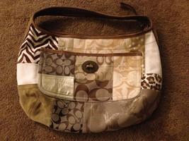 Coach Ergo Brown Patchwork Hobo Shoulder Handbag Purse 10809 - $57.41