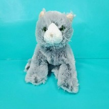 Ganz Webkinz Silversoft  Gray & White Cat Plush Stuffed Animal Toy No Co... - $15.83