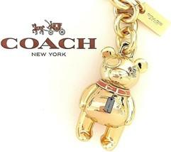 COACH Gold Bear Keychain Bag or Backpack Charm F87166 NWT $80.00 - $39.59