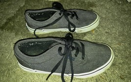 Vans Gray Sneakers Youth Size 4 Lace Up Made In Vietnam - $19.79