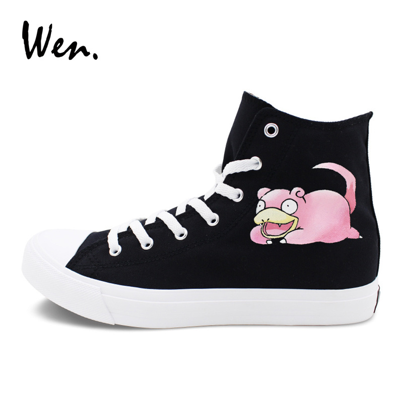 Wen Pokemon Shoes Hand Painted Black Canvas and similar items. 11 b83cfbe7be73